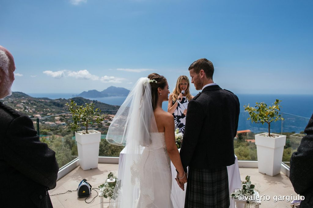 wedding officiant at villa eliana, sorrento amalfi coast