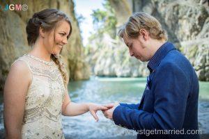 beach ceremony wedding amalfi coast photo