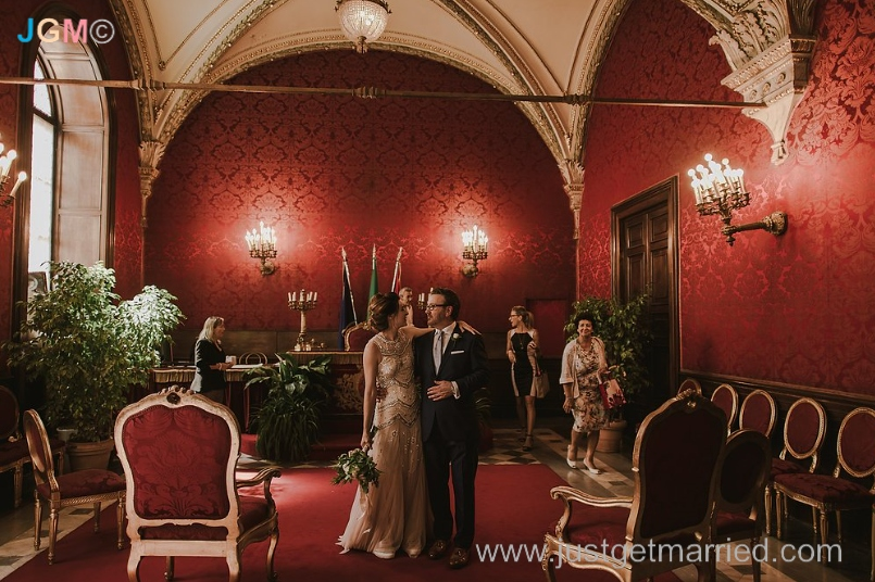 rome marriage wedding hall campidoglio, sala rossa