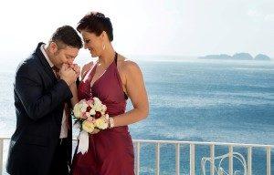 renewal of vow ceremony positano wedding