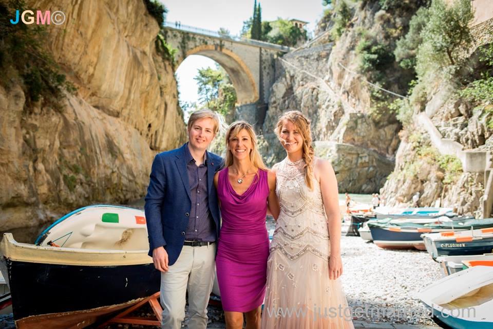 wedding officiant beach ceremony positano