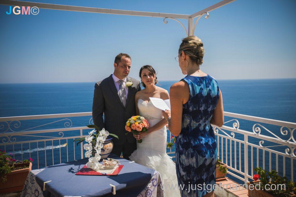 seaside ceremony wedding italy