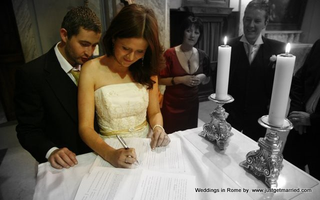 religious wedding rome irish embassy church rome romance wedding