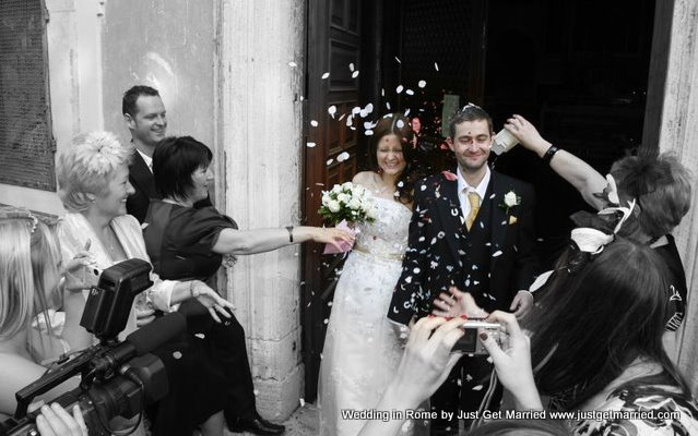 wedding church rome catholic confetti marriage religious wedding italy
