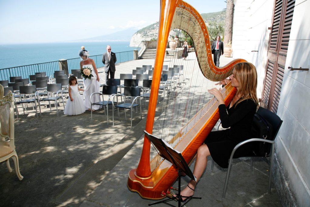 music, villa fondi, sorrento weddings, elope outdoor ceremony