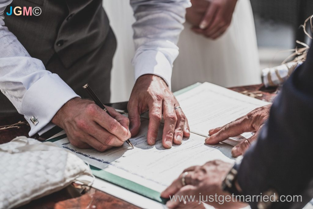 signing marriage sorrento