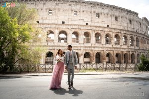 colosseum rome bride groom photo coverage