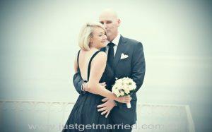 positano terrace bride and groom wedding